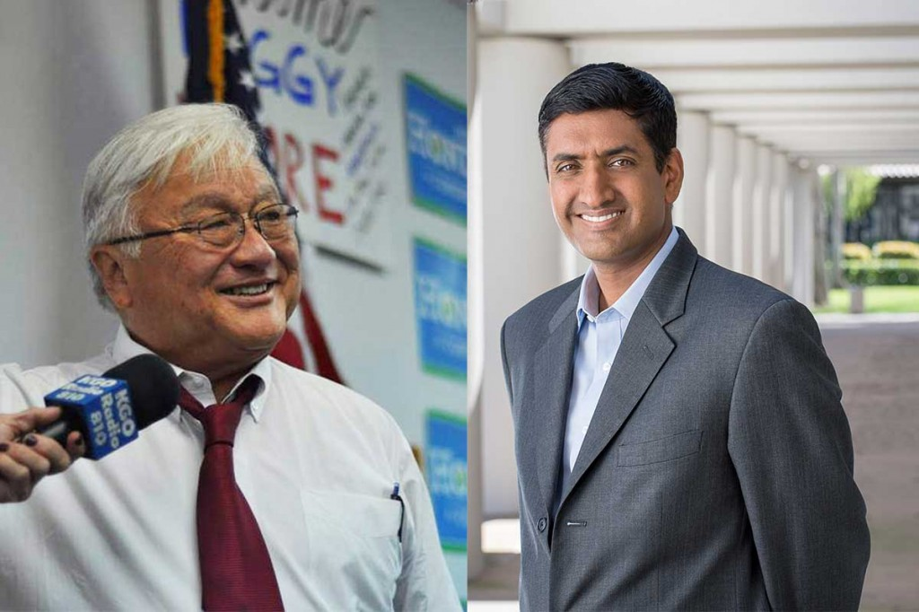 Mike Honda (left) and Ro Khanna (right). (Photos courtesy of Mike Honda for Congress and Ro Khanna for Congress campaign websites)