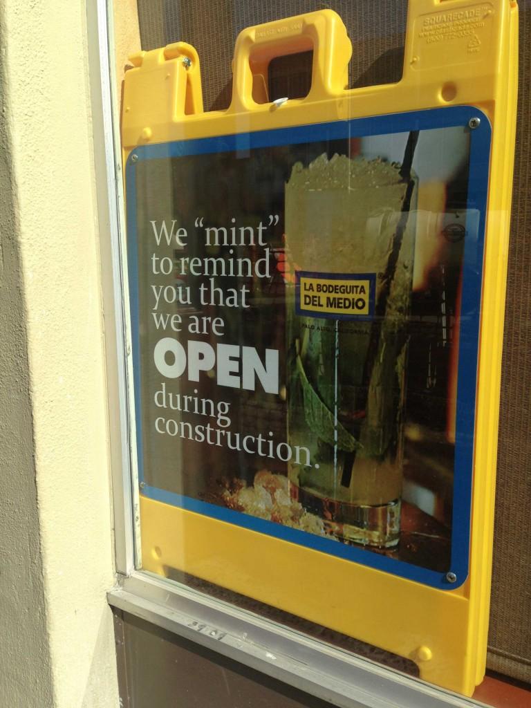 La Bodeguita Del Medio, a bar and restaurant on California Avenue in Palo Alto, Calif., has lost business due to the heavy construction, according to manager Michael Ekwall. (Alex Hicks/Peninsula Press)