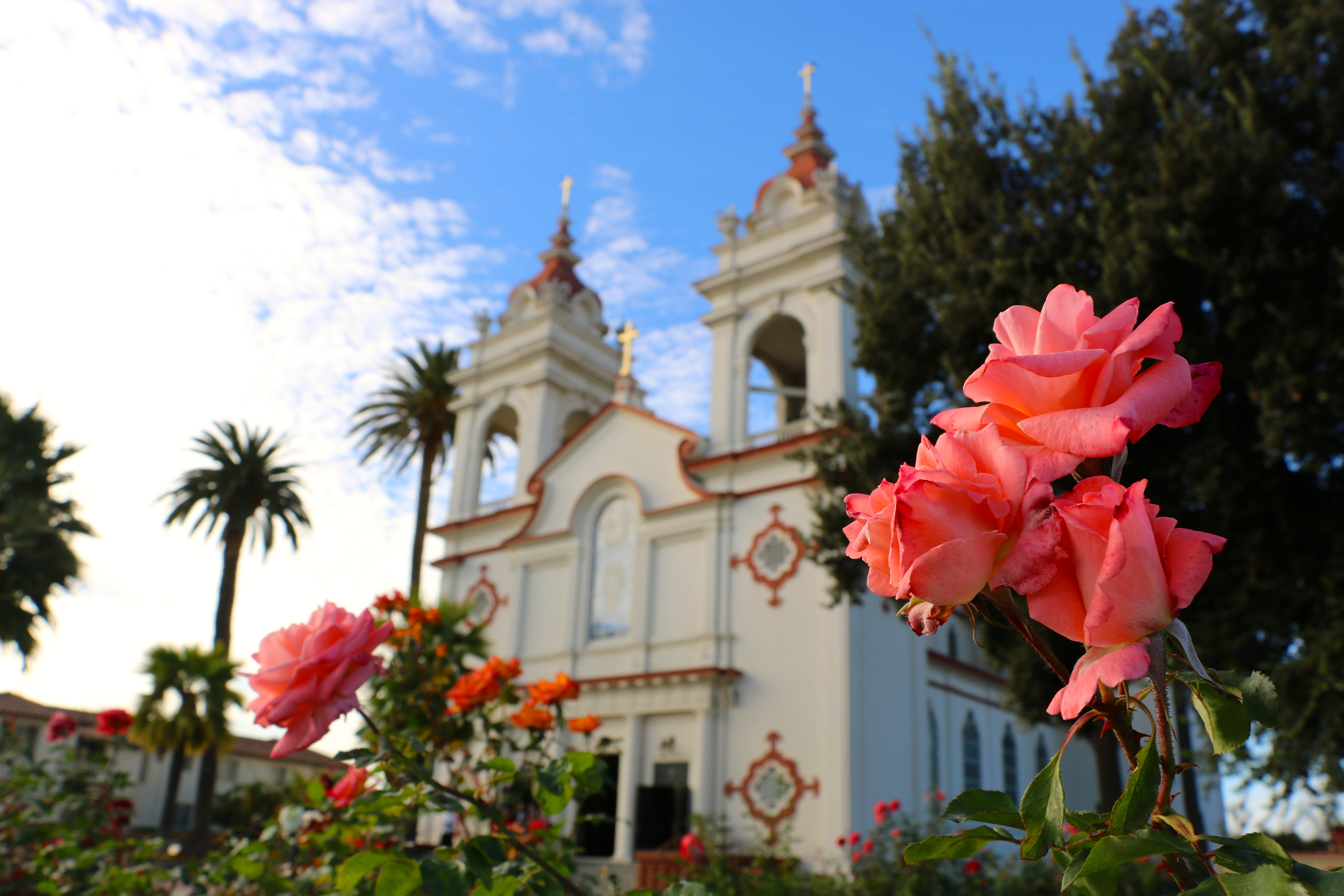The Five Wounds Portuguese National Church is a centerpiece of a small community in east San Jose.
