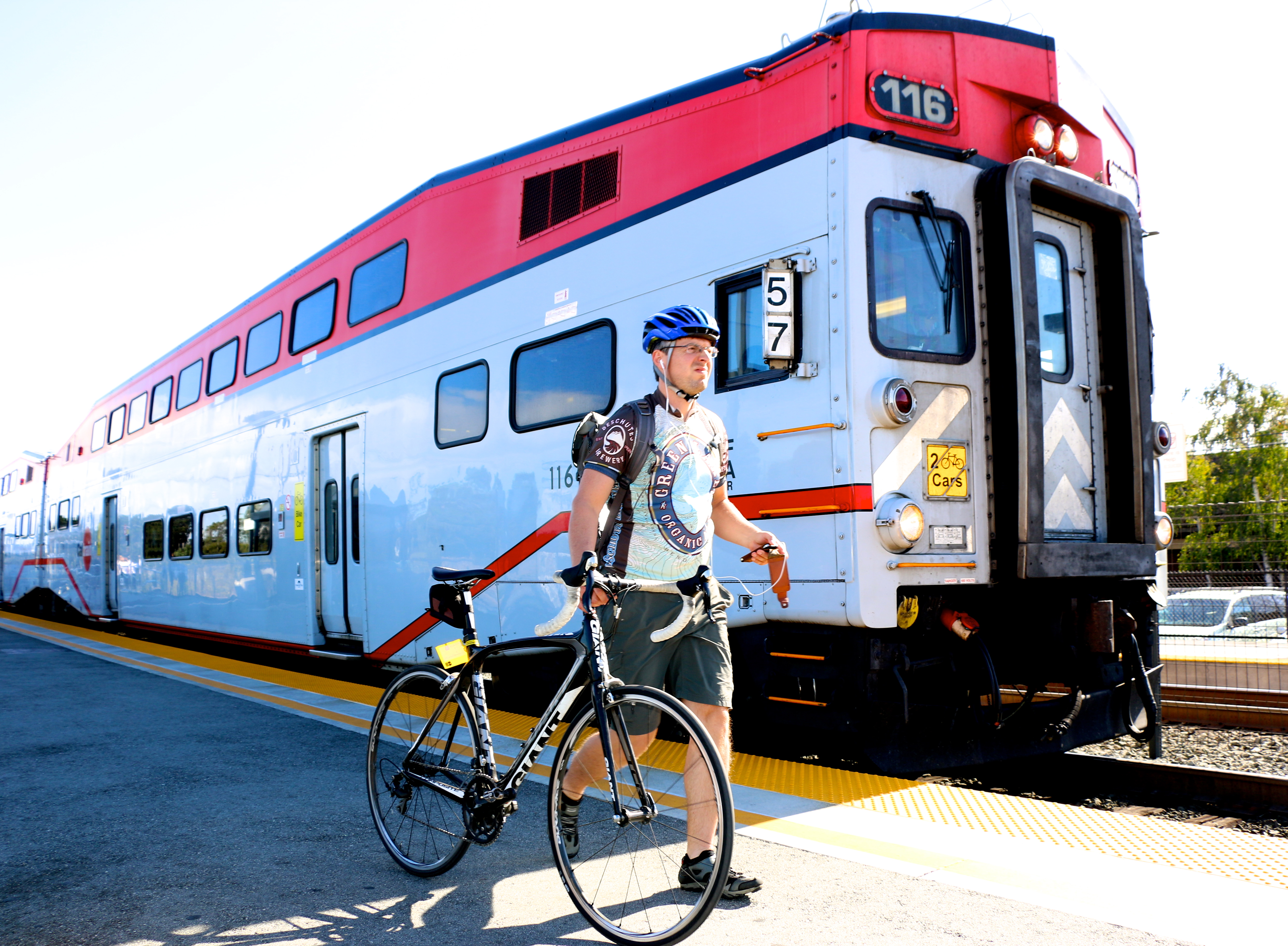 Bike commuters on Caltrain -- boasting the most extensive bicycle access program among passenger railroads in the nation -- have reached an all-time high.