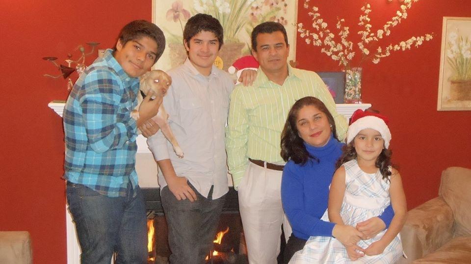 Silvia Castro and family