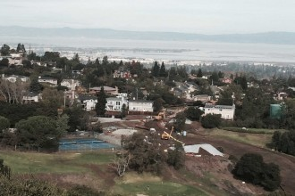 View of the San Francisco Peninsula from La Cañada College, Redwood City. (Maya Humes/Peninsula Press)