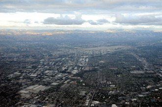 A look at Silicon Valley from above. (Photo courtesy of Wonderlane on Flickr via Creative Commons)