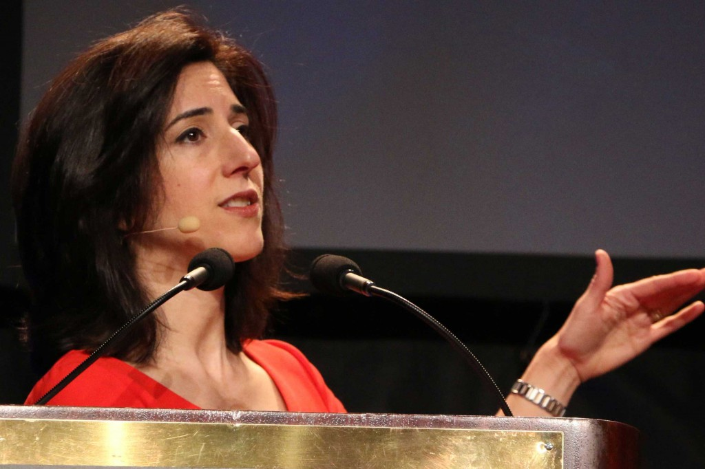 Rana Foroohar, assistant managing editor of Time Magazine, spoke at Joint Venture Silicon Valley's annual State of the Valley conference Wednesday on the need for the public and private sector to work together to fight income inequality. (Carolina Wilson/Peninsula Press)