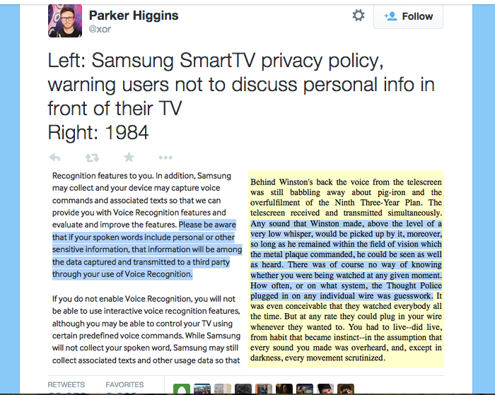 Parker Higgin's tweet has been retweeted more than 20,000 times.