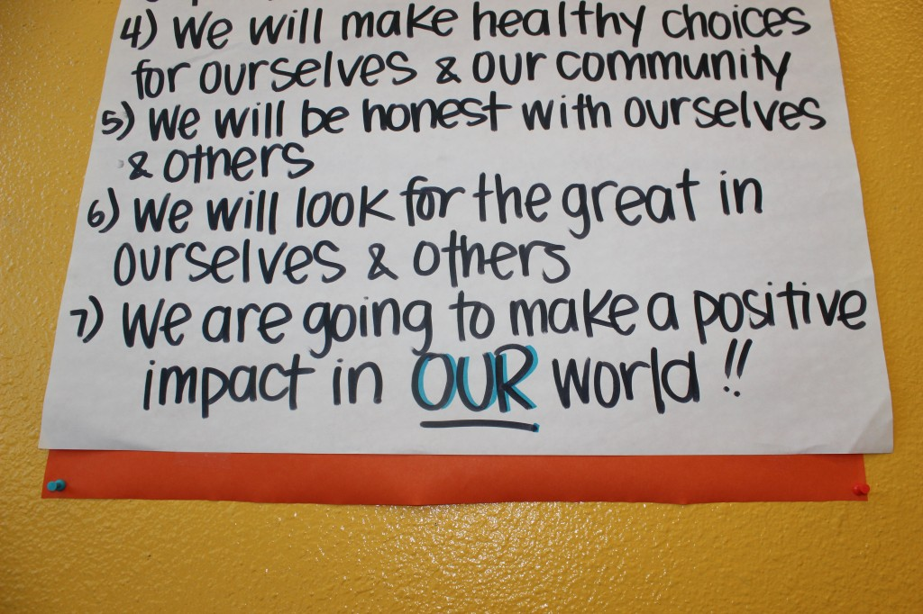 List of rules in the teen room at BGCP. (Jessica Tonn/ Peninsula Press)
