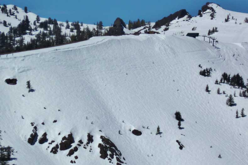Snow in Tahoe, pictured in 2011. (Photo courtesy of Andrew Stanley)