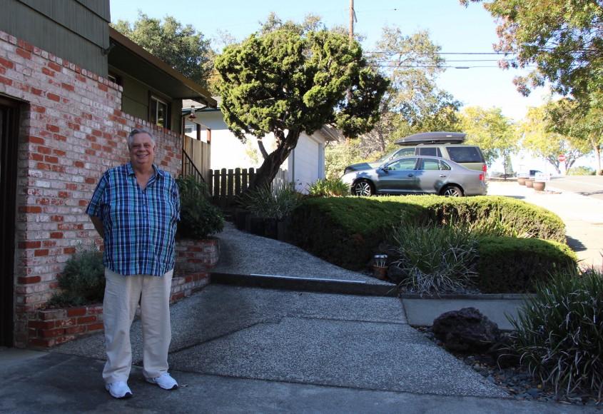 Longtime Redwood City resident Dave Gahagen fears that downtown's rampant development will sprawl into his suburban neighborhood. (Ana Santos/Peninsula Press)