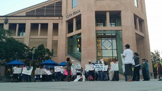 Mountain View Tenants Coalition Protests for rent moratorium