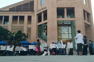 Mountain View Tenants Coalition Protests for rent moratorium