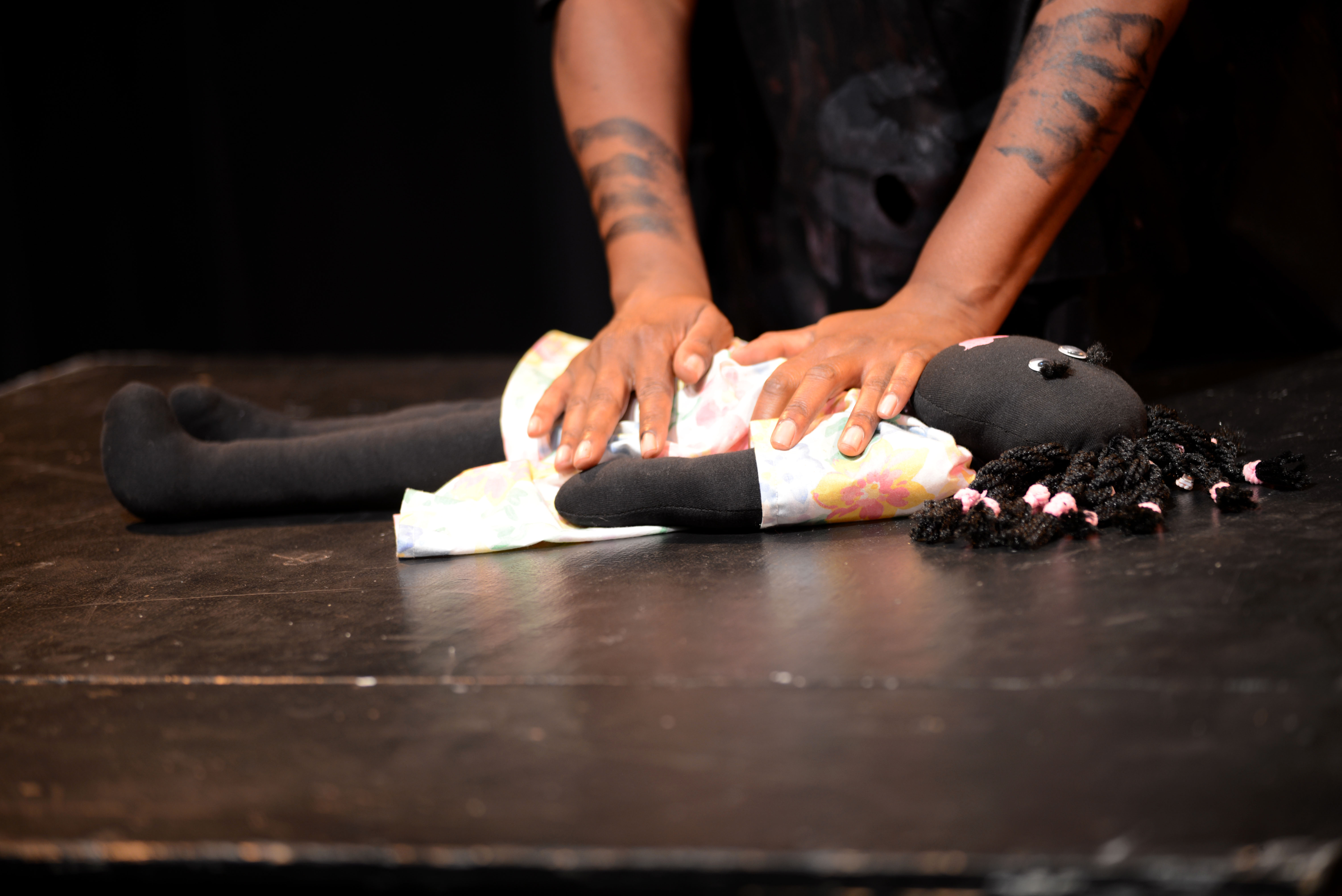 Regina Evans performs her play '52 Letters' at the Marsh in San Francisco. (Travis Shafer/Peninsula Press)