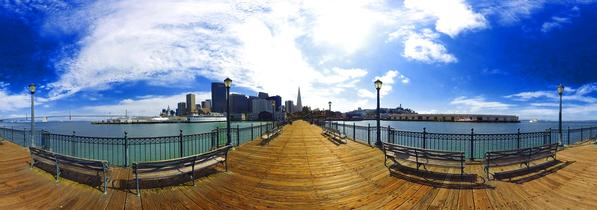 The 360 image of the San Francisco Tour. (Photo courtesy of Ascape VR)