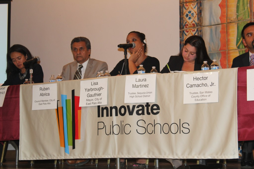 Representatives from East Palo Alto City Council, the San Mateo County Office of Education, and the Knowledge Is Power Project listen to parents speak at an information session on Oct. 26, 2015. East Palo Alto parents are calling for the city to open a charter school in 2017 after test results showed the vast majority of students in the Ravenswood school district are not meeting achievement standards in math and English.