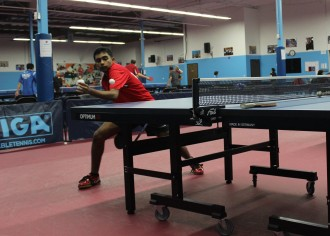 Krishnateja Avvari, 15, juggles school work and practice sessions for the Olympic trials, which will be held in February. (Saurabh Datar/Peninsula Press)