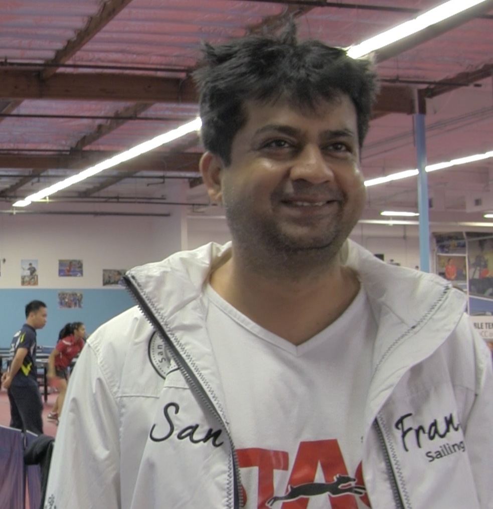 Rajul Sheth, executive director of the ICC table tennis center. (Saurabh Datar/Peninsula Press0
