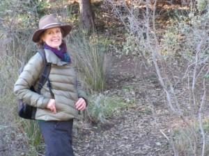 Linda Novy, spokeswoman for the FootPeople, hiking on Marin Municipal Water District lands. (Tyler McIntosh/Peninsula Press)