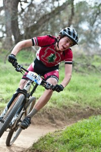 Ben Suliteanu races for the Redwood High School mountain biking team at Folsom Lake in 2013. (Photo courtesy of Robert Lowe)