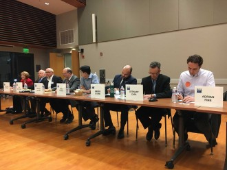Ten of the 11 city council candidates came out to the Palo Alto League of Women Voter's City Council Candidate Forum on Oct. 5, 2016 in Palo Alto. (Jenna Fowler/Peninsula Press)
