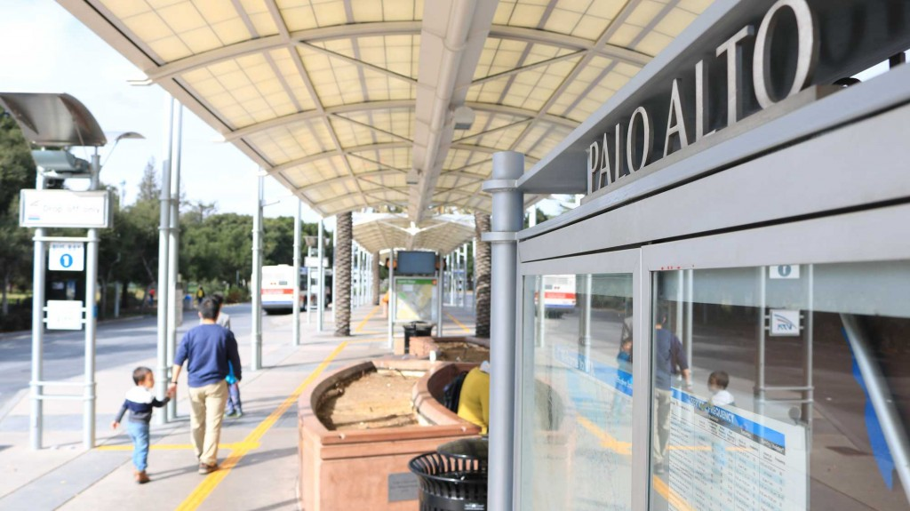 The Palo Alto Transit Center serves VTA Bus Routes 22, 35 and 522. If Measure B passes, an estimated $500 million of the sales tax revenue could support VTA transit operations.
