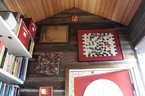 The interior of Amanda's 130 sq.ft. tiny house in Mid-Peninsula.