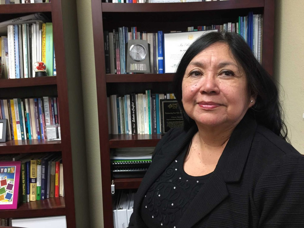 Gloria Hernandez-Goff is superintendent of the Ravenswood City School District in East Palo Alto. (Ashley Gross/Peninsula Press)