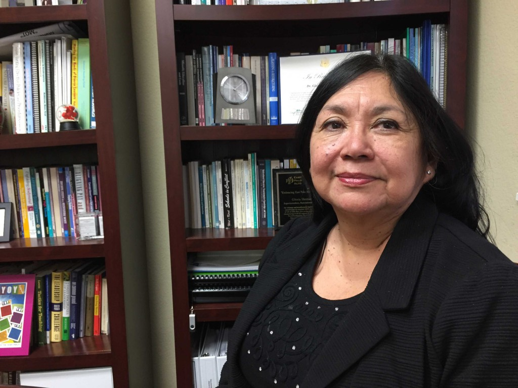 Dr. Gloria Hernandez-Goff has been superintendent of the Ravenswood City School District since the summer of 2013. (Ashley Gross/Peninsula Press)