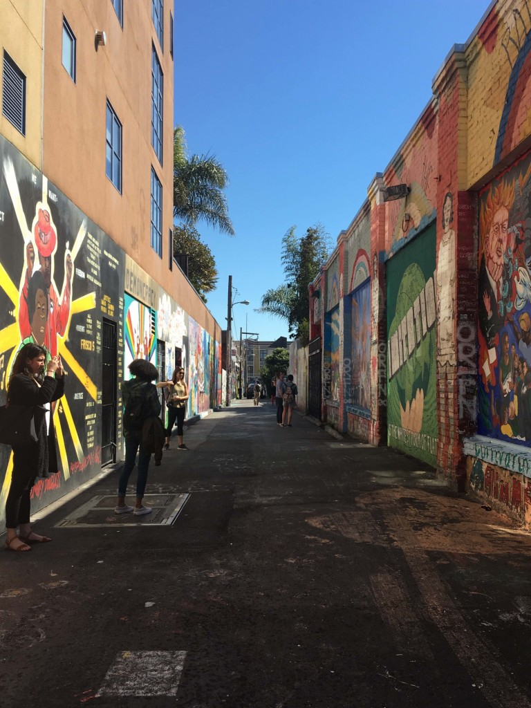 Clarion Alley in San Francisco's Mission District is a cultural hotspot. (Lila Thulin/Peninsula Press)
