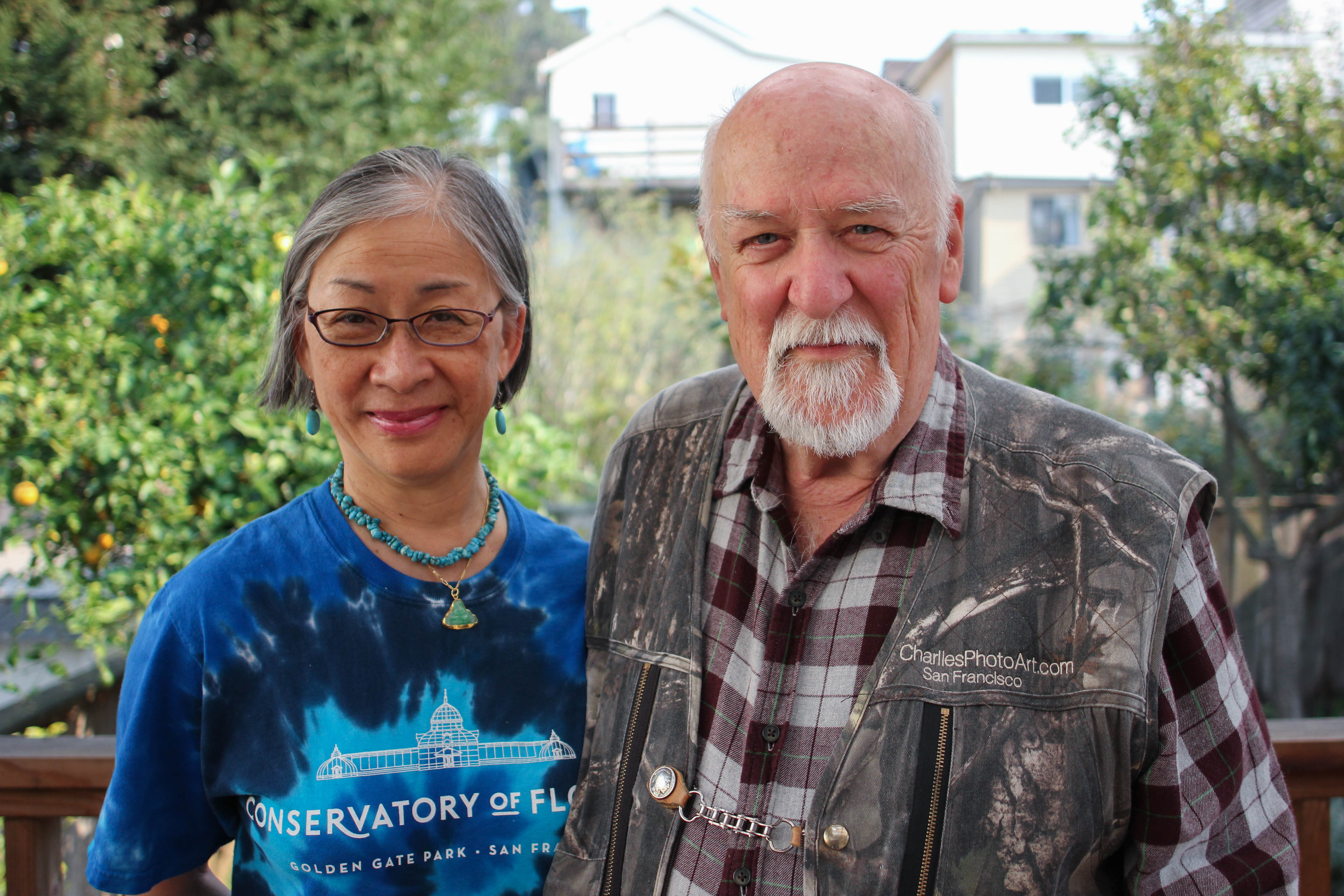 Charlie Wambeke has lived in the San Francisco Excelsior District for 50 years. He and his wife Melody started noticing airplane noise two years ago. (Charlotte Kosche/Peninsula Press)