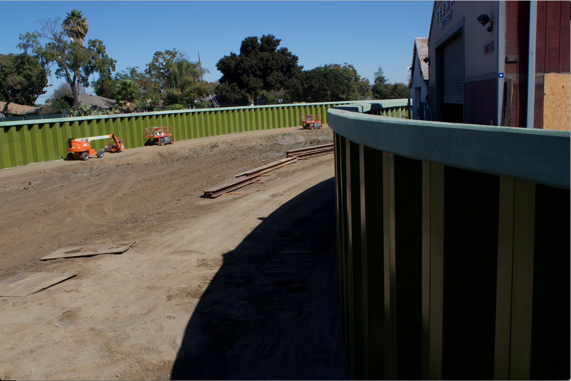 Floodwalls in East Palo Alto