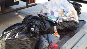 Bags of drugs collected at Bascom Community Center in San Jose.