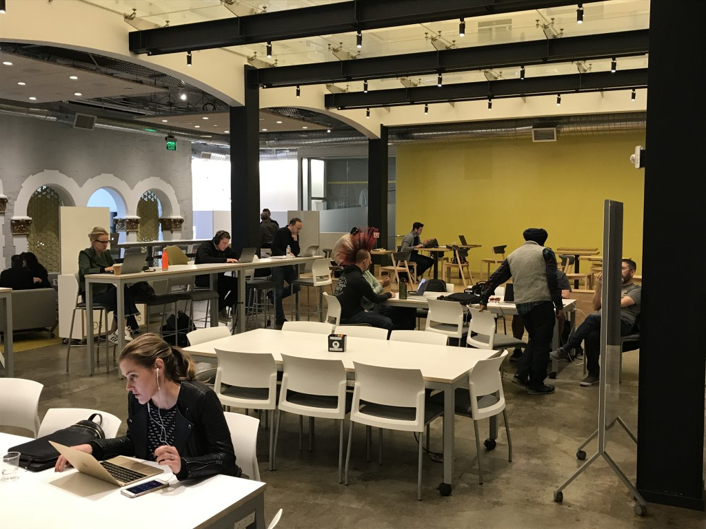HanaHouse, a coworking space in downtown Palo Alto, is home to many freelance and contract works looking to ban together.