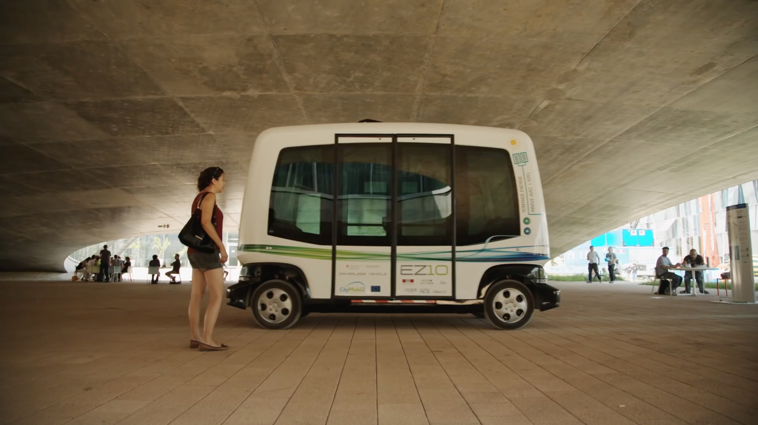 One example of automated vehicles is the EasyMile driverless shuttle in Lausanne, Switzerland. (Courtesy: EasyMile)