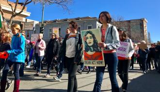 Marchers in Oakland, Calif.