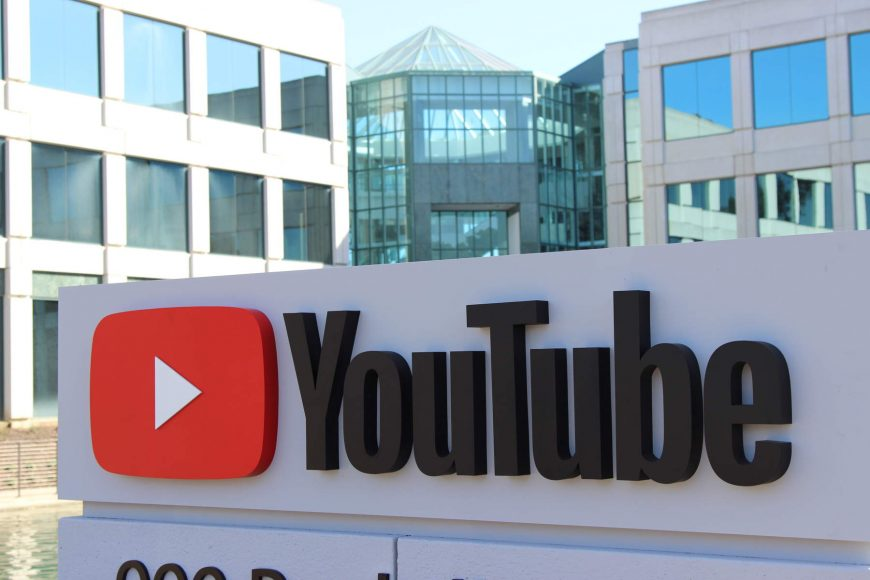 A sign outside a YouTube building in the company's campus near 901 Cherry Ave. in San Bruno. (Dylan Freedman/Peninsula Press)