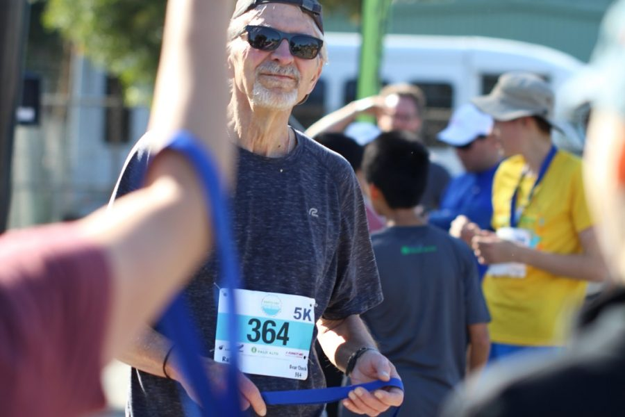 James Keene, Palo Alto city manager at the 5k run.