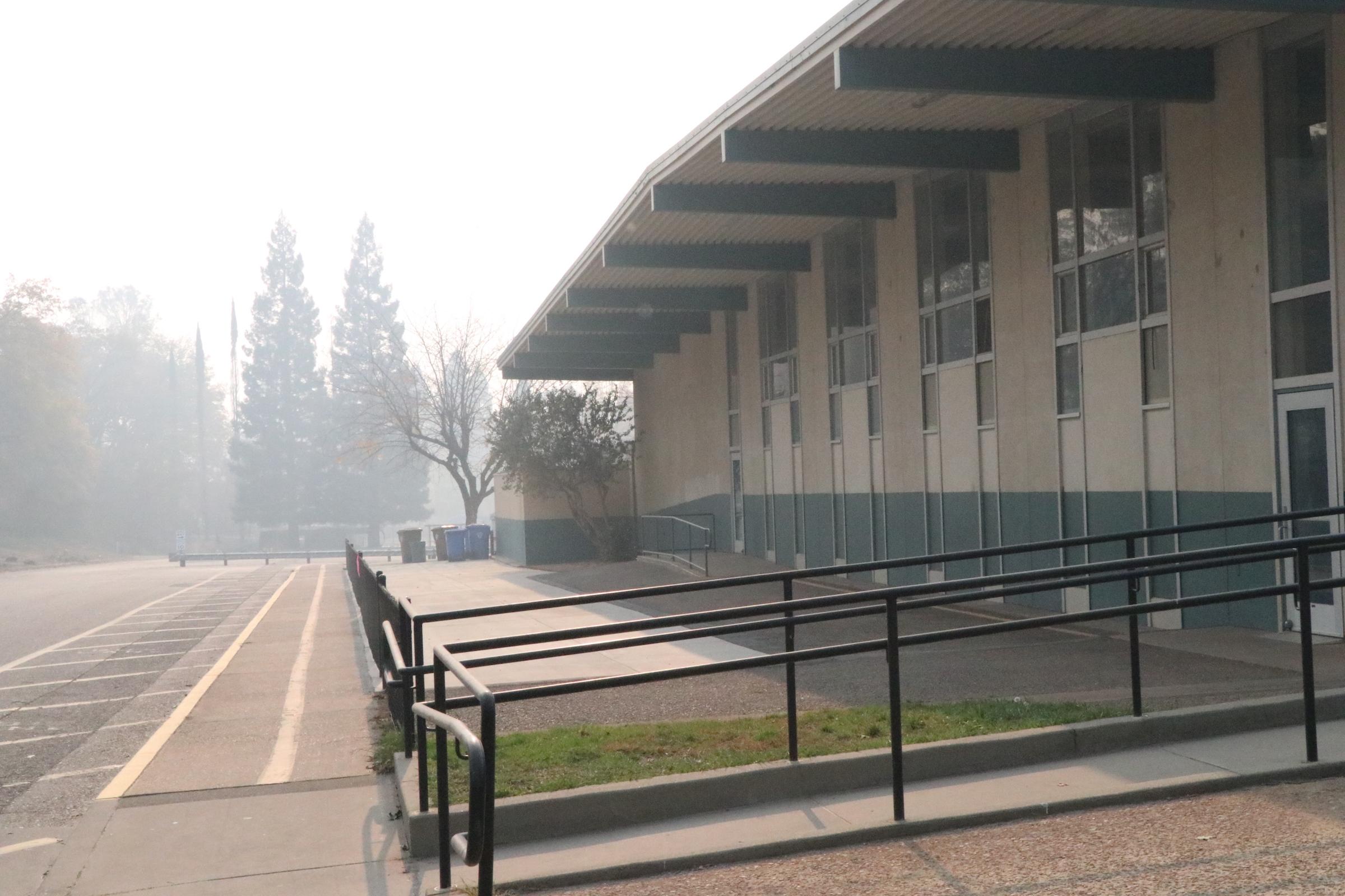 Just across the street, Paradise Intermediate School still stands, untouched by flames.  Ashlyn Rollins/Peninsula Press