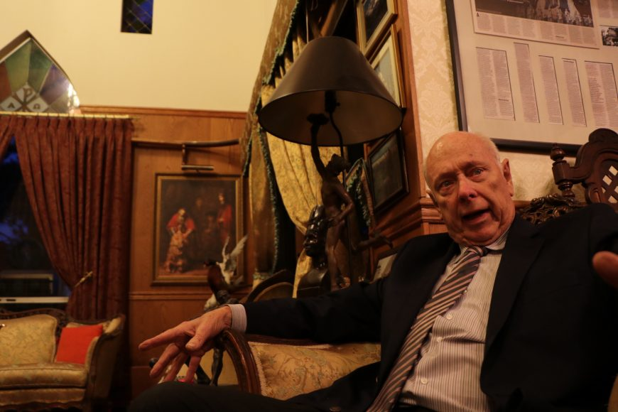 Civil rights attorney Bruce Nickerson in his home in San Carlos, CA. Nickerson estimates that between 40,000 and 50,000 people have been arrested for illegitimate lewd conduct investigations since 1979. (Connor Richards / Peninsula Press)