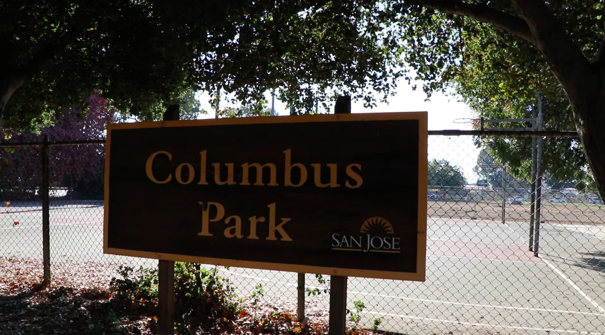 Columbus Park in San Jose, where multiple men were arrested by undercover San Jose police officers in 2014 and 2015. (Connor Richards / Peninsula Press)