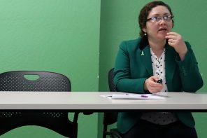 Evelyn Tirumalai speaks at a Behavioral Health Board committee meeting.