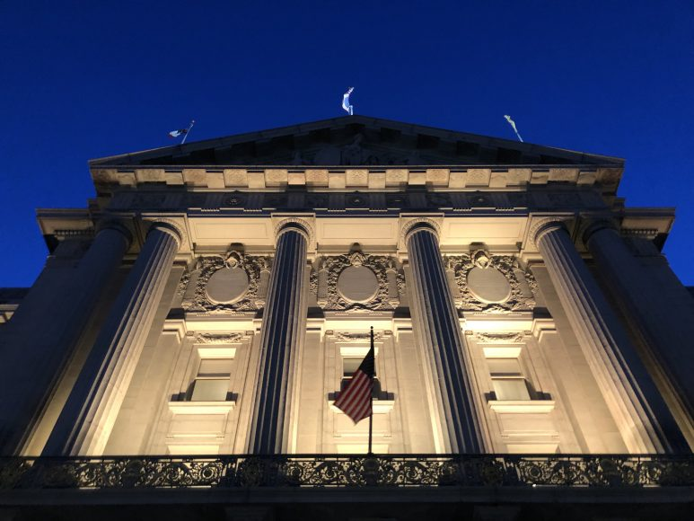 San Francisco's city hall is where police accountability meetings are held on Wednesdays, Oct. 2, 2019. The Department of Police Accountability is a commission that impartially examined officers in the city. (Peninsula Press/Nisa Khan)
