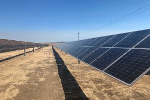 Panels at the Wright Solar Facility in Los Banos
