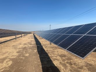 Panels at the Wright Solar Facility in Los Banos