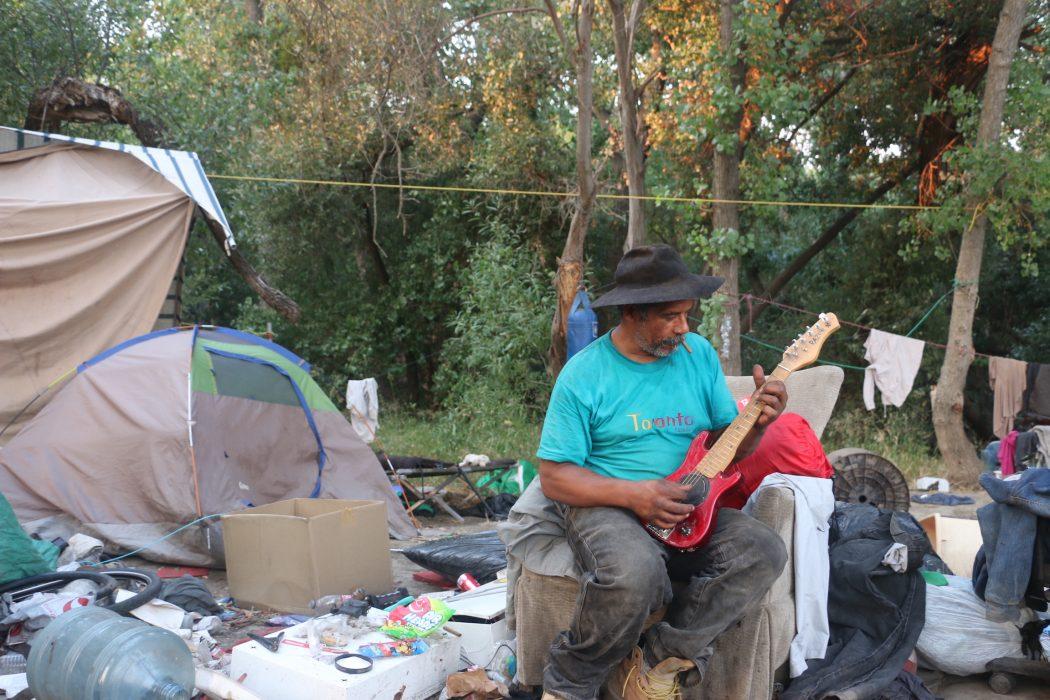Jurassic Park homeless encampment in north San Jose, California