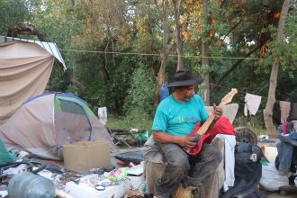 Jurassic Park homeless encampment in north San Jose, California