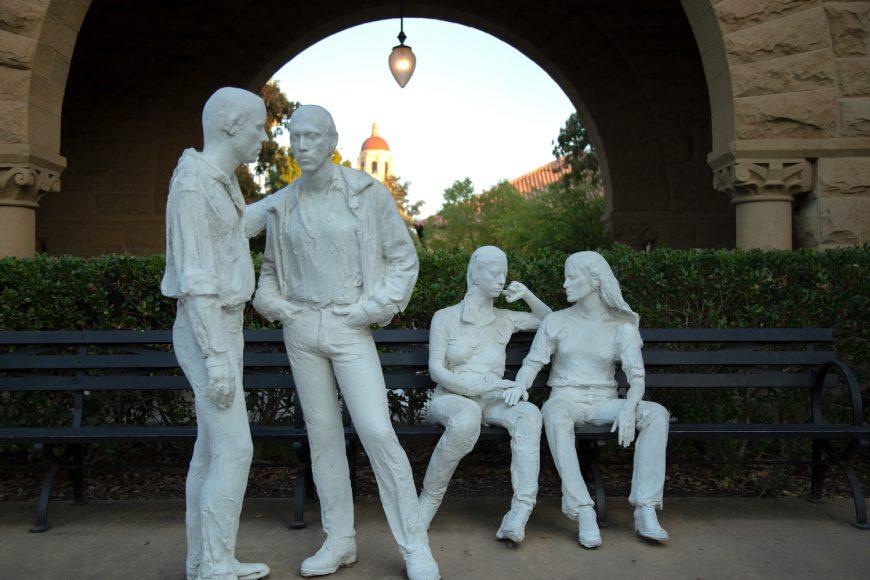 George Segal statues at the Main Quad. (Noah Cortez, Peninsula Press)