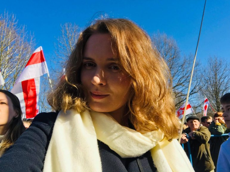 Belarusian journalist Katsiaryna Andreyev (Courtesy of Igor Ilyash)