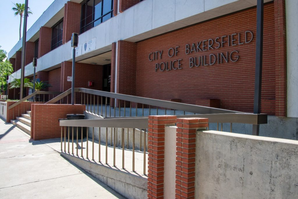 The outside of the City of Bakersfield Police Building