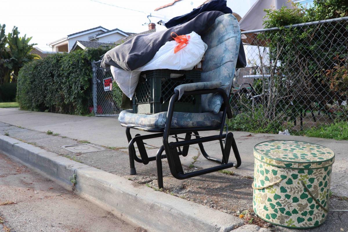 Trash left curbside